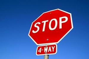 4 way stop sign